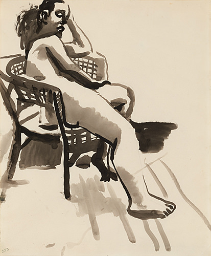David Park, Nude in Chair, c. 1955–59