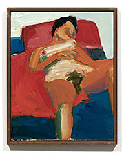 Joan Brown, Untitled (Reclining nude), c.1958
