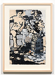 Joan Brown, Untitled (Seated Woman), c.1962